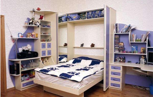 кровать трансформер в детской комнате