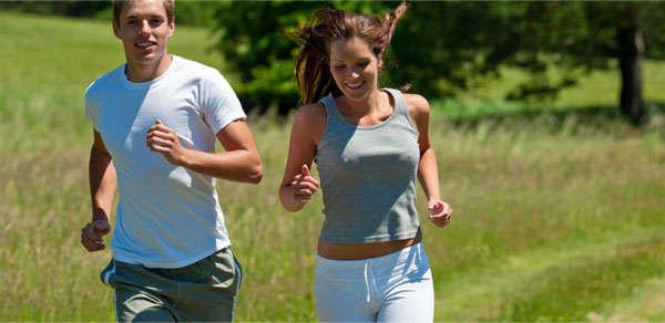 бег с девушкой