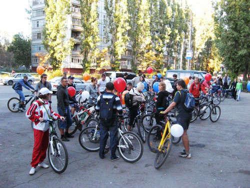 Начало сбора велопробега