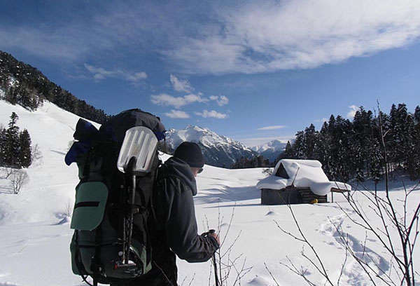 зимний поход в горы