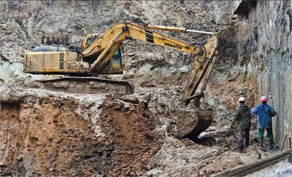 стройка в яме